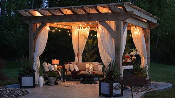 Backyard Candlelight Staycation
