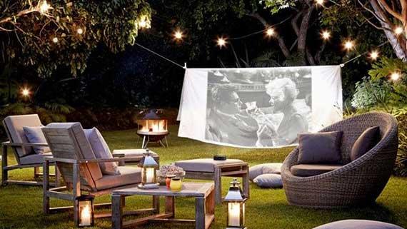 backyard cinema staycation