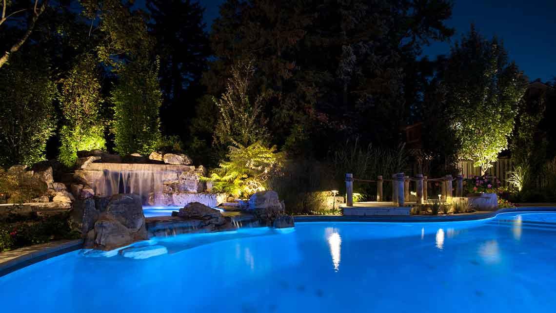 mordern pool lighting
